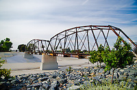 The Historic Pacific Electric Railway Bridge over Santa Ana River
