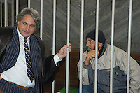 NOV 6, 2006 Milan Italy: the Court of assizes of Milan has condemned to ten years of confinement, for association in order to commit a crime finalized to the international terrorism Osman Rabei, thought the organizer of the massacres of Madrid of 11 March 2004, Osman Rabei in classroom with its lawyer Luca Dauria.6 NOV 2006 Milano:La Corte d'Assise di Milano ha condannato a dieci anni di reclusione, per associazione per delinquere finalizzata al terrorismo internazionale Osman Rabei, ritenuto l'organizzatore delle stragi di Madrid dell'11 marzo 2004, Osman Rabei con il suo avvocato Luca Dauria