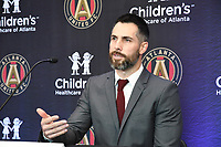 "Atlanta, Georgia - Friday, January 25, 2019. Atlanta United introduces newly-signed Gonzalo ""Pity"" Martinez in a press conference at the team's Children's Healthcare Training Center."