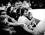 Leonid Yarmolnik - soviet and russian film and theater actor with daughter, 1991. | Леонид Исаакович Ярмольник - cоветский и российский актёр театра и кино с дочерью на Кинотавре-91. 1991 год.