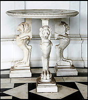 BNPS.co.uk (01202 558833)<br /> Pic: Sworders/BNPS<br /> <br /> Italian marble 18th century table, est &pound;5,000.<br /> <br /> The &pound;1million contents of a majestic 16th century English country house including its eye-catching tapestries, paintings and antique furniture have emerged for sale.<br /> <br /> The jewel in the crown in the everything must go sale at North Mymms Park is a collection of 19 large European tapestries which are each valued at &pound;20,000.<br /> <br /> The 12ft by 17ft tapestries were crafted in weaving workshops across northern Europe from the mid 16th to mid 18th century and have hung in the Grade I listed manor 'of exceptional interest' near Colney, Herts, for over 100 years. <br /> <br /> They were purchased by Anglo-American banker Walter Hayes Burns who acquired the estate in 1893 to accommodate his growing art collection and whose family owned it until 1979.