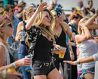 Festival goers enjoy the main stage music at the Wilderness Festival in Oxfordshire, August 4, 2017. <br /> CAP/CAM<br /> &copy;Andre Camara/Capital Pictures