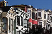 Victorian style homes, Alamo Square,.San Francisco, California.Victorian style homes, Alamo Square,.San Francisco, California