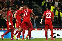 Robert Lewandowski of Bayern Munich is congratulated after scoring the second goal during Tottenham Hotspur vs FC Bayern Munich, UEFA Champions League Football at Tottenham Hotspur Stadium on 1st October 2019