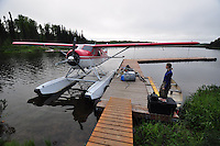 Float plane on Fish Lake, Talkeetna