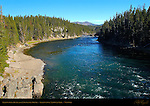 Yellowstone River from Chittenden Bridge, Yellowstone National Park, Wyoming