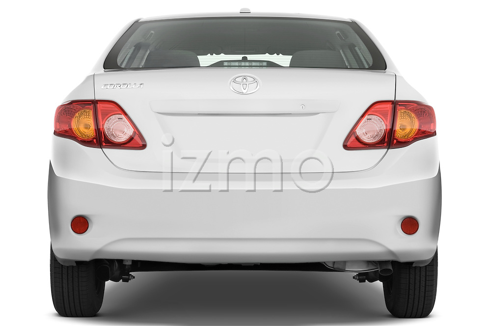 Straight rear view of a 2009 Toyota Corolla 4 Door