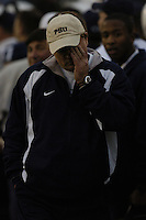 20 November 2004:  Defensive  Coordinator Tom Bradley..Penn State defeated Michigan State 37-13 November 20, 2004 at Beaver Stadium in State College, PA....