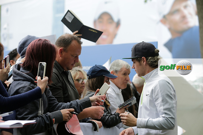 Niall Horan during the Pro-AM of the 2015 BMW PGA Championship. Wentworth Golf Club, Virginia Water, Surrey, UK. 20/05/2015.<br />  Picture Fran Caffrey, www.golffile.ie