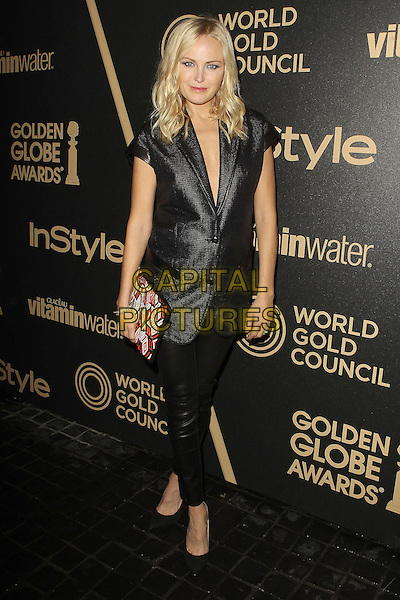Malin Akerman.The Hollywood Foreign Press Association And InStyle Miss Golden Globe 2013 Party held at Cecconi's Restaurant, West Hollywood, California, USA, 29th November 2012..full length black short sleeve jacket blazer pregnant leather pants leggings  clutch bag shoes .CAP/ADM/KB.©Kevan Brooks/AdMedia/Capital Pictures.