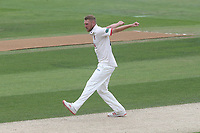 Jamie Porter of Essex celebrates taking the wicket of Adam Lyth during Essex CCC vs Yorkshire CCC, Specsavers County Championship Division 1 Cricket at The Cloudfm County Ground on 9th July 2019