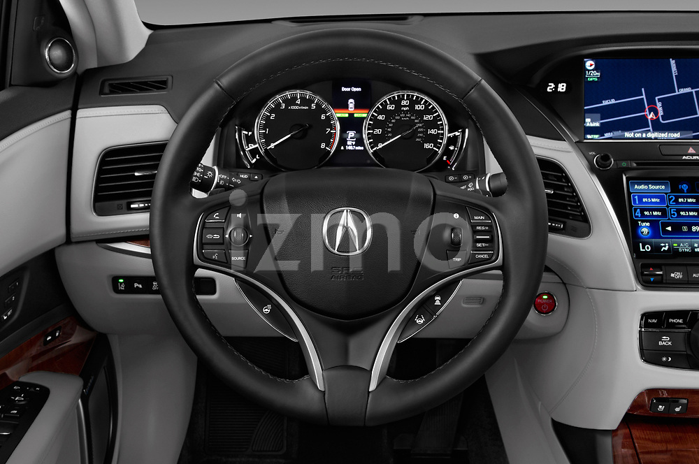 Car pictures of steering wheel view of a 2016-2017 Acura RLX Sport Hybrid 4 Door Sedan