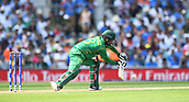 June 18th 2017, The Kia Oval, London, England;  ICC Champions Trophy Cricket Final; India versus Pakistan; Mohammad Hafeez of Pakistan clips the ball for a single