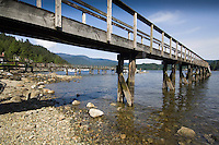 Private jetties in Deep Cove, Burrard Inlet,Vancouver, British Columbia, Canada.