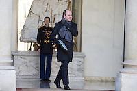 PARIS , PALAIS DE L'ELYSEE LE 18 / 01 / 2017<br /> SORTIE DU CONSEIL DES MINISTRES<br /> JEAN JACQUES URVOAS , GARDE DES SCEAUX , MINISTRE DE LA JUSTICE
