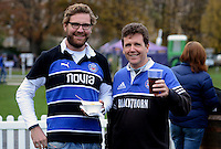 A general view of Bath Rugby supporters prior to the match. Aviva Premiership match, between Bath Rugby and Newcastle Falcons on November 15, 2014 at the Recreation Ground in Bath, England. Photo by: Clare Green for Onside Images