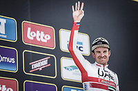 podium <br /> <br /> 3th place finisher Alexander Kristoff (NOR/UAE)<br /> <br /> 103rd Ronde van Vlaanderen 2019<br /> One day race from Antwerp to Oudenaarde (BEL/270km)<br /> <br /> ©kramon