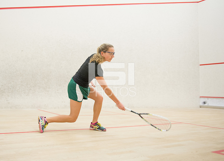 Stanford, California - Wednesday, February 10, 2015: The Stanford Squash team practices.