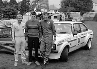 N Ireland rally drivers, left to right, Hugh O'Brien, not known, Pat McCullough, UK, rally driver, motor sport, sport, 19850709RD1..Copyright Image from Victor Patterson, 54 Dorchester Park, Belfast, UK, BT9 6RJ..Tel: +44 28 9066 1296.Mob: +44 7802 353836.Voicemail +44 20 8816 7153.Skype: victorpattersonbelfast.Email: victorpatterson@me.com.Email: victorpatterson@ireland.com (back-up)..IMPORTANT: If you wish to use this image or any other of my images please go to www.victorpatterson.com and click on the Terms & Conditions. Then contact me by email or phone with the reference number(s) of the image(s) concerned.