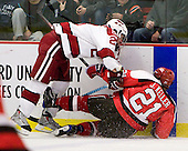 Chris Huxley (Harvard - 28), Jared Keller (St. Lawrence - 21) - The St. Lawrence University Saints defeated the Harvard University Crimson 3-2 on Friday, November 20, 2009, at the Bright Hockey Center in Cambridge, Massachusetts.