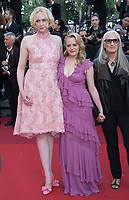 Elisabeth Moss, Gwendoline Christie &amp; Jane Campion at the premiere for &quot;The Beguiled&quot; at the 70th Festival de Cannes, Cannes, France. 24 May 2017<br /> Picture: Paul Smith/Featureflash/SilverHub 0208 004 5359 sales@silverhubmedia.com
