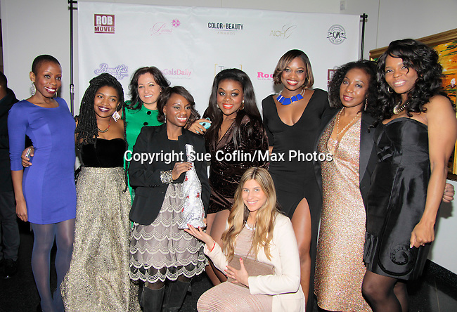 Diva Gals Daily - Color of Beauty Awards hosted by VH1's Gossip Table's Delaina Dixon and Maureen Tokeson-Martin on February 28, 2015 with red carpet, awards and cocktail reception at Ana Tzarev Gallery, New York City, New York.  (Photo by Sue Coflin/Max Photos)