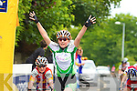 Ciara Mulholland wins the u12 race in the Kerry Youth Cycling tour in Beaufort on Saturday   Copyright Kerry's Eye 2008