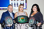 Three times World Kickboxing Champion Kori Goed Abbeyfeale with her parents Damian and Maria at the Kerry Sports Stars awards in the INEC on Friday night