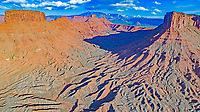 La Sal Mountains, Castle Rock and surrounding badlands and mesas, Utah, Near Moab, Colorado River