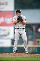 Scranton/Wilkes-Barre RailRiders starting pitcher Chance Adams (28) gets ready to deliver a pitch during a game against the Rochester Red Wings on June 24, 2018 at Frontier Field in Rochester, New York.  The game was suspended in the fourth inning due to inclement weather.  (Mike Janes/Four Seam Images)