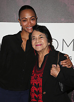 02 November 2018 - Los Angeles, California - Zoe Saldana and Dolores Huerta. TheWrap&rsquo;s Power Women&rsquo;s Summit held at the InterContinental Hotel. <br /> CAP/ADM/FS<br /> &copy;FS/ADM/Capital Pictures