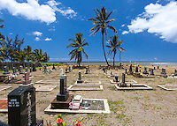 Japanese cemetery near the beach in Kekaha, Kaua'i