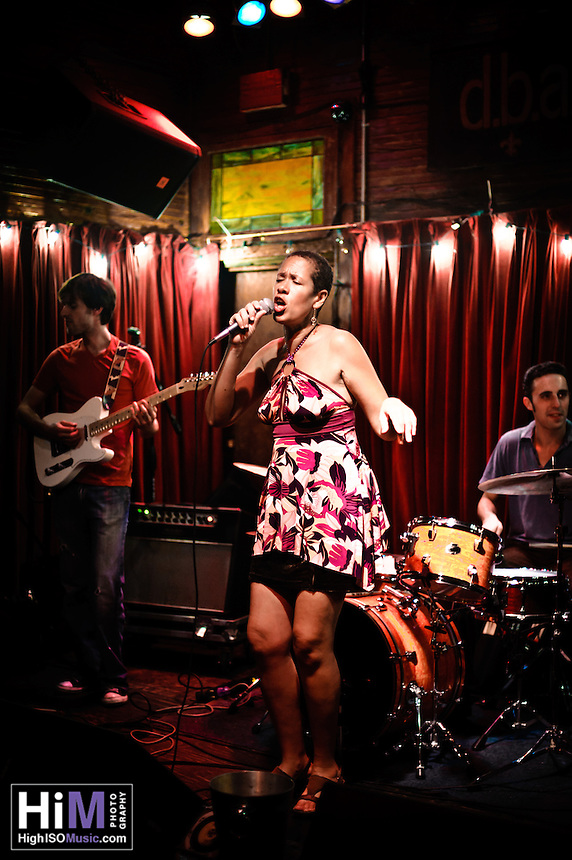 Margie Perez playing with her band at d.b.a. in New Orleans, LA.