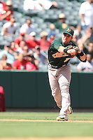 09/13/12 Anaheim, CA: Oakland Athletics shortstop Cliff Pennington #2 during an MLB game played between the oakland Athletics and Los Angeles Angels at Angel Stadium. The Angels defeated the A's 6-0.