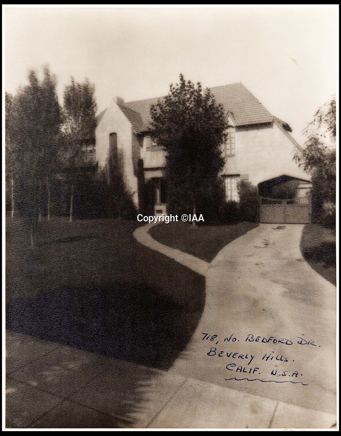 BNPS.co.uk (01202 558833)<br /> Pic: IAA/BNPS<br /> <br /> Stan's home in the heart of Beverly Hills.<br />  <br /> Heart-warming letters and photos Stan Laurel sent his first comedy sidekick who he stayed friends with after forming his iconic double-act with Oliver Hardy have emerged.<br /> <br /> Ted Desmond and Laurel, known then by his real name Stan Jefferson, briefly worked together on tour in Netherlands and Belgium in 1912 but they parted ways when Laurel was offered a spot in an American touring troupe.<br /> <br /> It would have been easy for Laurel to forget his first, short-lived sidekick, or for Ted to have been jealous of his success with another comic.<br /> <br /> But, touchingly, they remained firm friends and Laurel sent Ted and his wife Gertrude various letters and photos over the next 40 years.
