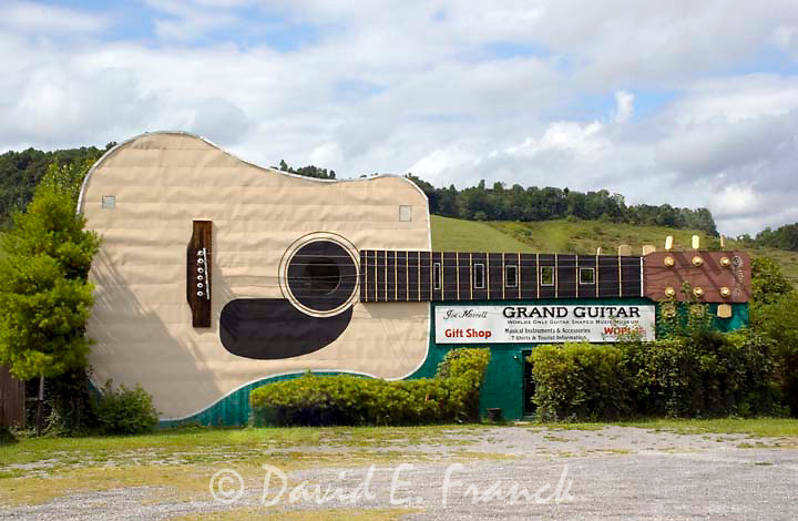 Worlds largest guitar shaped building is a landmark museum honoring Bristol Tennessee as the official Birthplace of Country Music