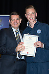 St Johnstone FC Youth Academy Presentation Night at Perth Concert Hall..21.04.14<br /> Chairman Steve Brown presents to Matthew Henvey<br /> Picture by Graeme Hart.<br /> Copyright Perthshire Picture Agency<br /> Tel: 01738 623350  Mobile: 07990 594431