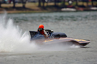 Travis Hickman, GP-182, Xanadu, Grand Prix class pickle-fork Lauterbach hydroplane.Madison Regatta, Madison Indiana July 3, 2005.Photo Credit: ©F.Peirce Williams 2005
