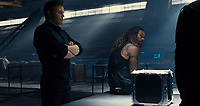 Justice League (2017) <br /> BEN AFFLECK, JASON MOMOA<br /> *Filmstill - Editorial Use Only*<br /> CAP/FB<br /> Image supplied by Capital Pictures