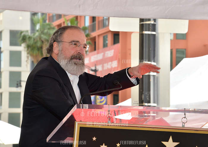 Mandy Patinkin at the Hollywood Walk of Fame Star Ceremony honoring actor Mandy Patinkin on Hollywood Boulevard, Los Angeles, USA 12 Feb. 2018<br /> Picture: Paul Smith/Featureflash/SilverHub 0208 004 5359 sales@silverhubmedia.com