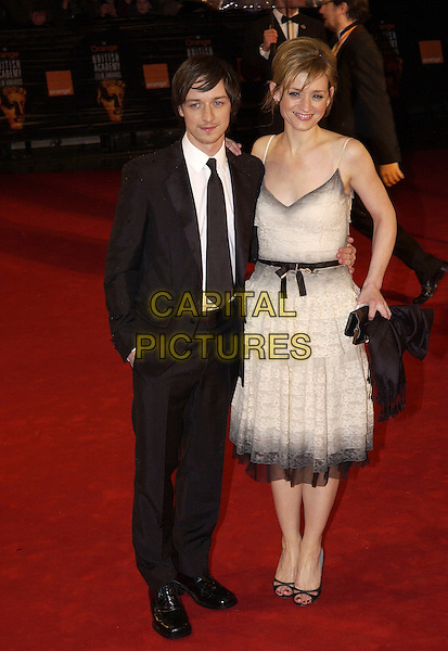 JAMES McAVOY & ANNE MARIE DUFF.Arrivals at The Orange British Academy Film Awards, .(BAFTA's) Odeon Leicester Square, London, England,.19 February 2006.bafta baftas full length .Ref: FIN.www.capitalpictures.com.sales@capitalpictures.com.©Steve Finn/Capital Pictures.
