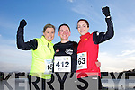 Laura O'Keeffe, Susan Fernaneand Michelle Moynihan at the Valentines 10 mile road race in Tralee on Saturday.