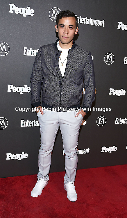 Conrad Ricamora attends the Entertainment Weekly &amp; PEOPLE Magazine New York Upfronts Celebration on May 16, 2016 at Cedar Lake in New York, New York, USA.<br /> <br /> photo by Robin Platzer/Twin Images<br />  <br /> phone number 212-935-0770