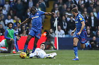 Bolton Wanderers' Clayton Donaldson competing with Leeds United's Pablo Hernandez <br /> <br /> Photographer Andrew Kearns/CameraSport<br /> <br /> The EFL Sky Bet Championship - Leeds United v Bolton Wanderers - Saturday 23rd February 2019 - Elland Road - Leeds<br /> <br /> World Copyright © 2019 CameraSport. All rights reserved. 43 Linden Ave. Countesthorpe. Leicester. England. LE8 5PG - Tel: +44 (0) 116 277 4147 - admin@camerasport.com - www.camerasport.com