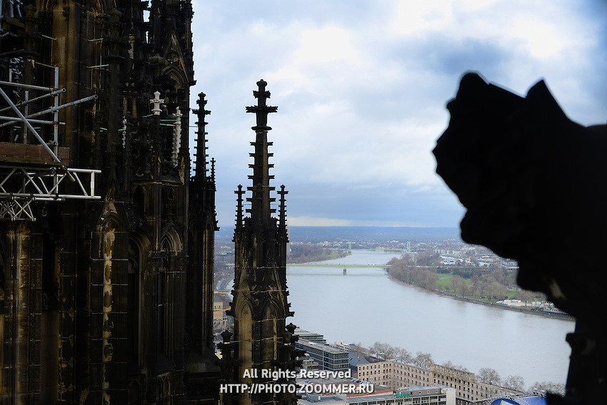 Cologne Cathedral And Rhine River, Germany