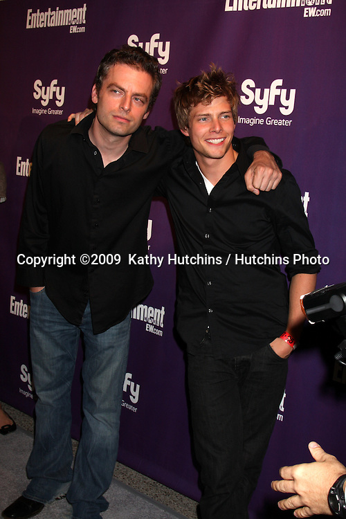 Justin Kirk & Hunter Parrish  arriving at the SyFy / Entertainment Weekly Party at the Hotel Solamar J6 Bar in San Diego, CA on July 25, 2009.©2009  Kathy Hutchins / Hutchins Photo....