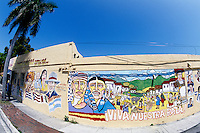 Cuba Painting wall mural in Little Havana, Miami, Florida.