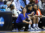 22 March 2014: Duke head coach Joanne P. McCallie. The Duke University Blue Devils played the Winthrop University Eagles in an NCAA Division I Women's Basketball Tournament First Round game at Cameron Indoor Stadium in Durham, North Carolina.