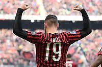 Theo Hernandez of AC Milan celebrates after scoring the goal of 2-1 <br /> Milano 19/01/2020 Stadio Giuseppe Meazza <br /> Football Serie A 2019/2020 <br /> AC Milan - Udinese Calcio <br /> Photo Image Sport / Insidefoto