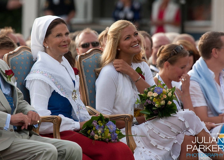 Crown Princess Victoria of Sweden celebrates her 32nd Birthday at a concert in Borgholm, on the Island of Oland in Sweden..Accompanied by her fiance Daniel Westling, and King Carl Gustaf, and Queen Silvia of Sweden, Prince Carl Phillip, and Princess Madeleine of Sweden.Queen Silvia and Princess Madeleine